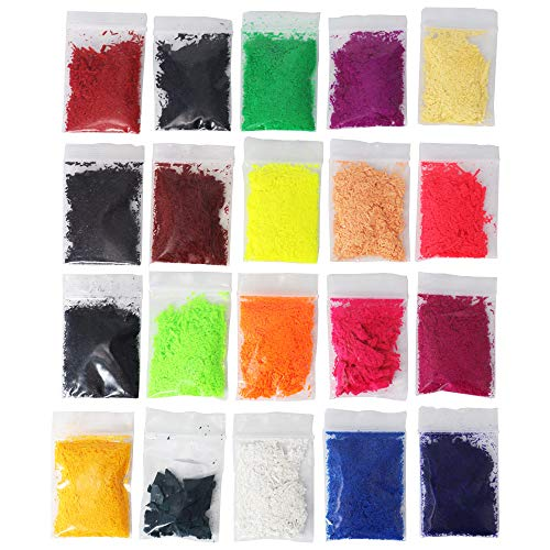 ONGHSD 20 Packs Candle Wax Dye for Candle Making Colorant Soy Wax Candle Dye Powder Soy Candle Coloring Chips Pigment for DIY Soy Wax Making Supplies Kit 2g/0.07oz Each Pack