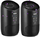 PARTU HEPA Air Purifier - Smoke Air Purifiers for Home with Fragrance Sponge - 100% Ozone Free, Lock Set, Eliminates Smoke, Dust, Pollen, Pet Dander, (Available for California)-2 Pack