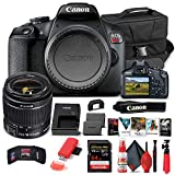 Canon EOS Rebel T7 DSLR Camera with 18-55mm Lens (2727C002) + 64GB Memory Card + Case + Corel Photo Software + LPE10 Battery + Card Reader + Cleaning Set + Flex Tripod + Memory Wallet (Renewed)