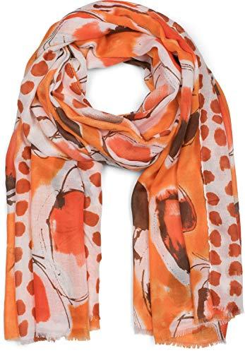 styleBREAKER Dames sjaal met abstracte stippen en bolletjesprint, lente-zomer stola, sjaal, sjaal 01016199