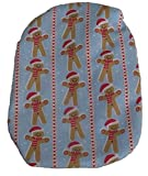 Simple Stoma Cover Ostomy Bag Cover Gingerbread Stripe Blau -
