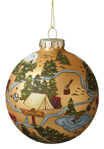 Midwest CBK Camping Forest Ball Ornament