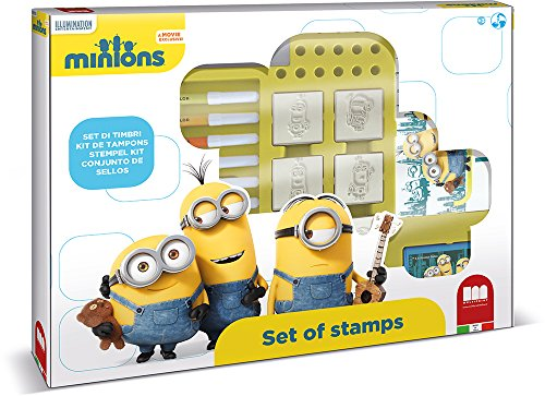 Disney - 0613025 - Set De Tampons Minions - 22 Pièces - Yellow