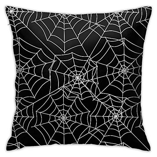 Fundas de almohada decorativas de tela de araña con cremallera oculta cuadrada para sofá, cama y coche
