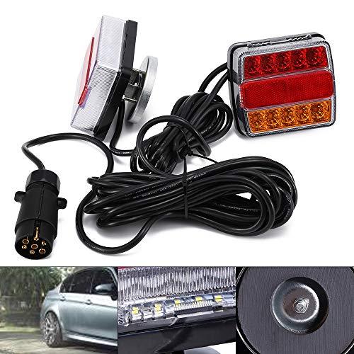 Luces Traseras LED de 2 Piezas con luz Trasera de 12 V para Luces Traseras del Remolque del Automóvil Luces de Iluminación del Remolque Conector de 7 pines