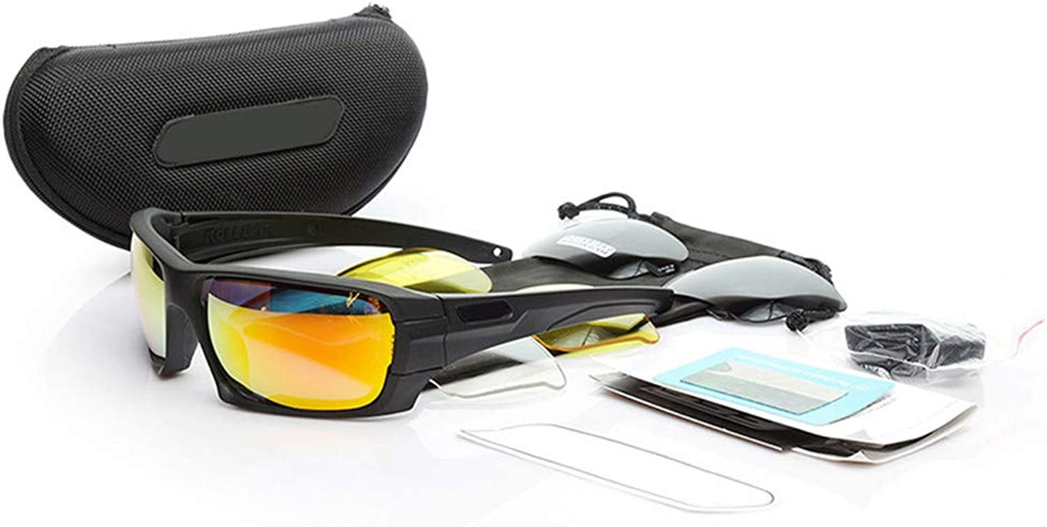 Outdoor Sports Polarized Sunglasses Tactical Goggles Set Polarized Lenses Riding Shooting Glasses Outdoor Riding Hiking Supplies Set