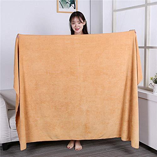 Lyolk Toallas Grandes absorbentes para Adultos, Toallas de Cama y Toallas de baño Grandes para Hombres y Mujeres-Golden_80x180 Extra Grueso