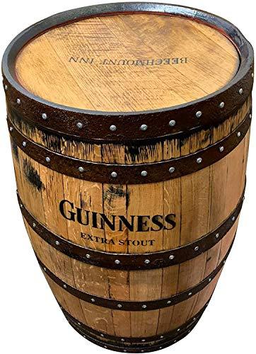Cheeky Chicks - Mesa de Patio Guinness, Barril de Whisky de Roble Macizo Reciclado | Pub Home Bar Mesa
