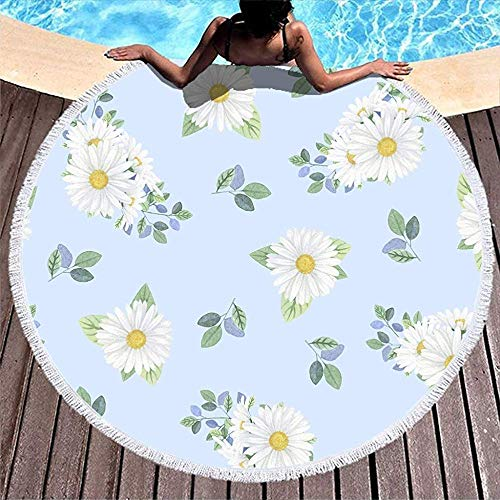Duanrest hangstoel met Frange White Daisy patroon Tapestry Super Water absorbeert Vacation Matsr Flower