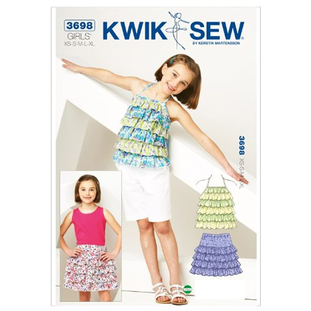 Kwik Sew K3698 Ruffly Top and Skirt Sewing Pattern, Size XS-S-M-L-XL