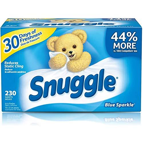 乾燥機用柔軟シート Snuggle スナッグル ブルースパークル 230枚 [並行輸入品]