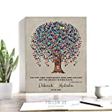 10 Year Anniversary Gift, Watercolor Tree, Personalized, Corinthians 13, Faith Hope Love, Carved Initials, Gift For Couple, Custom Art Print on Paper, Canvas or Metal 1507