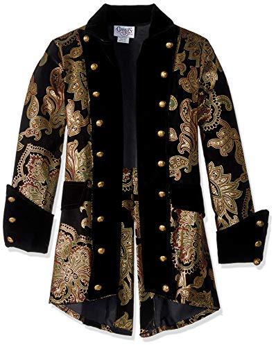 Charades Men's Royal Pirate Captain Jacket, Gold/Black, Small