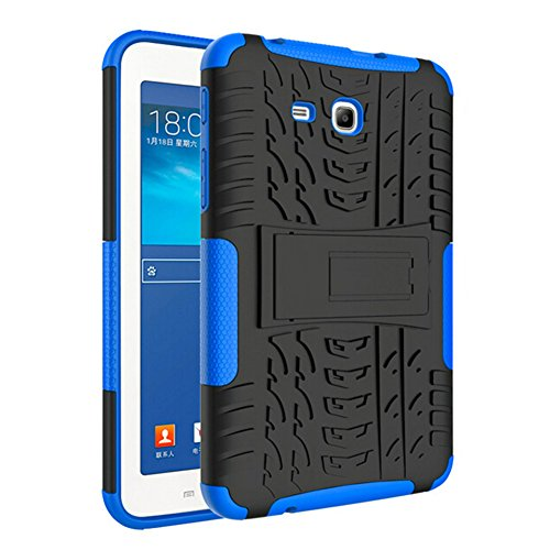 Slibrat Schutzhülle für Samsung Galaxy Tab3 Lite T110 T116 Dazzle Grain 2-in-1