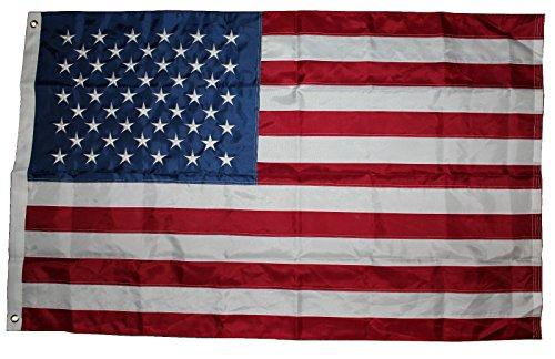 USA Fahne mit 50 gestickte Sterne und genähte Streifen, Wetterfeste Flagge, US Flag, 90x150 cm