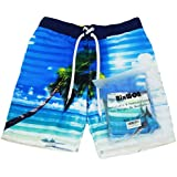 Men Swim Trunk Quick Dry Shorts with Three...