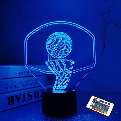 16-color 3D Basketball Night Light