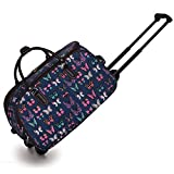 <span class='highlight'><span class='highlight'>Trendstar</span></span> Ladies Travel Bags HOLDALL Butterfly women hand luggage with wheels Trolley Weekend Purse