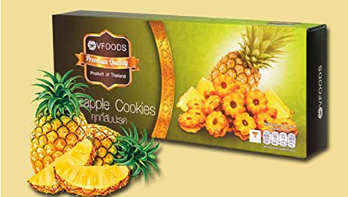 Vfoods Premium Quality Pineapple Cookies from Thailand 2 Pack