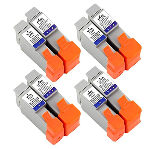 Karl Aiken Cartuchos de Tinta compatibles sustituye BCI-24, para Canon Pixma iP1000, iP1500, iP2000, MP110, MP130, MP390, Color Pack de 8