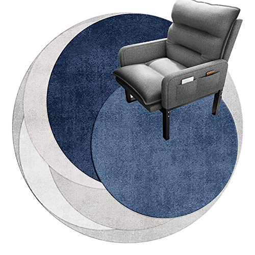 cojín de la silla redonda Tapete Para Silla De Oficina Para Pisos Alfombrados, Tapete Para Silla De Oficina, Tapete Redondo Para Piso, Tapete De Protección Profesional Para P(Size:140cm(55in),Color:D)