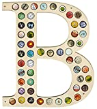 CAPLORD Beer Cap Holder Map - Wall Decor Art for Craft Beer Lovers for Bottle Cap Collector (Letter...