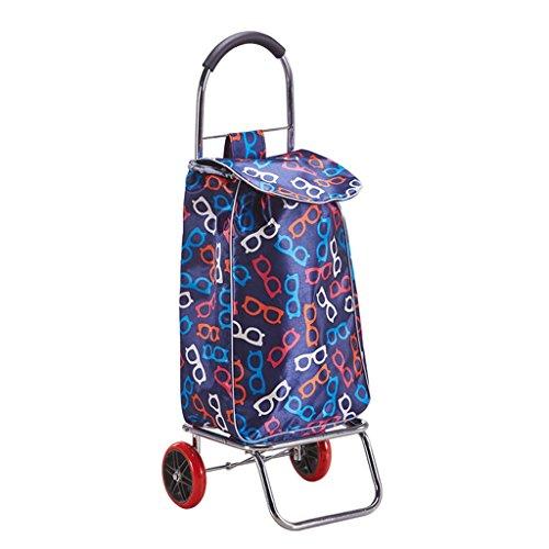 AICN_Rollwagen Handwagen klappbar Einkaufswagen Kleinwagen Portable Zugstange Auto Handgepäckwagen Kleiner Anhänger Älterer Trolley Handwagen Inklusive Taschen Beladung 30 kg (Farbe : #3)