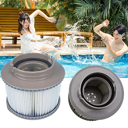 99native Mspa Filterpatrone,2/3/4 Stück Whirlpool Filterkartusche Filteranlagenzubehör,Pool Filterkartuschen Für Aufblasbaren Whirlpool Zubehör Outdoor Pool (2 Stück)