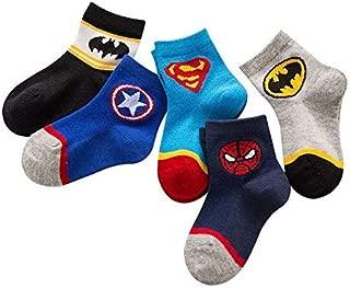 Astra Gourmet Kids Boys Avengers Patterned Cotton Socks Ankle Socks 5 Pairs