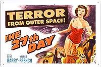 恐怖は宇宙映画から映画錫金属標識板バーバーレトロレトロ壁装飾ポスターファミリークラブ