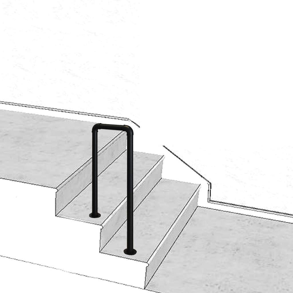 KDJJH En Forma de U Pasamanos Escalera, Transición Pasamanos Barandilla de Hierro Barandas Escalera Pasamanos para Escaleras para Escaleras Internas Y Externas,Black_85cm(2.8ft): Amazon.es: Hogar