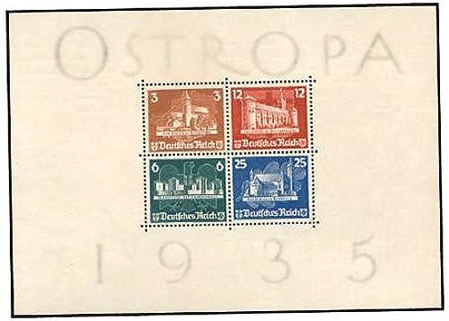 Goldhahn Deutsches Reich Block 3 postfrisch  mit Gummierung 2 Falzstellen Briefmarken für Sammler