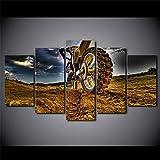 5 Panel/Set Lienzos Handart Cuadro En Lienzo Cinco Partes HD Clásico Óleo Impresiones Decorativas Cartel Arte Pared Pinturas Hogar Lienzo Motocicleta De Campo Traviesa