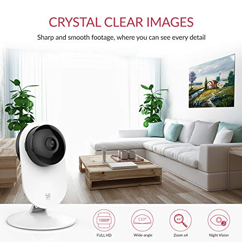 YI Home Camera 1080p Telecamera di Sorveglianza, Kit da 2