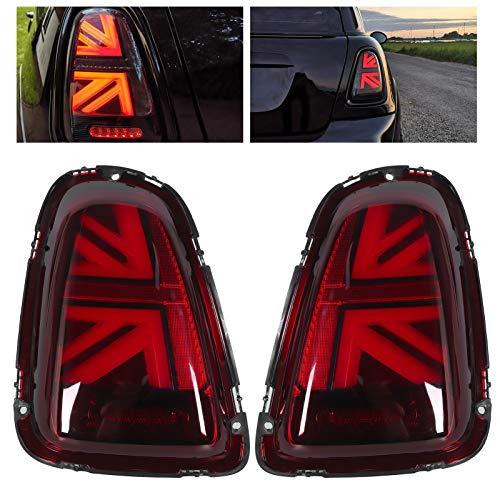 Terisass Luz Trasera LED, Conjunto de luz Trasera de Freno de señal de Giro superbrillante para Hatchback de 3 Puertas R56 LCI Convertible de 2 Puertas R57 LCI, etc.