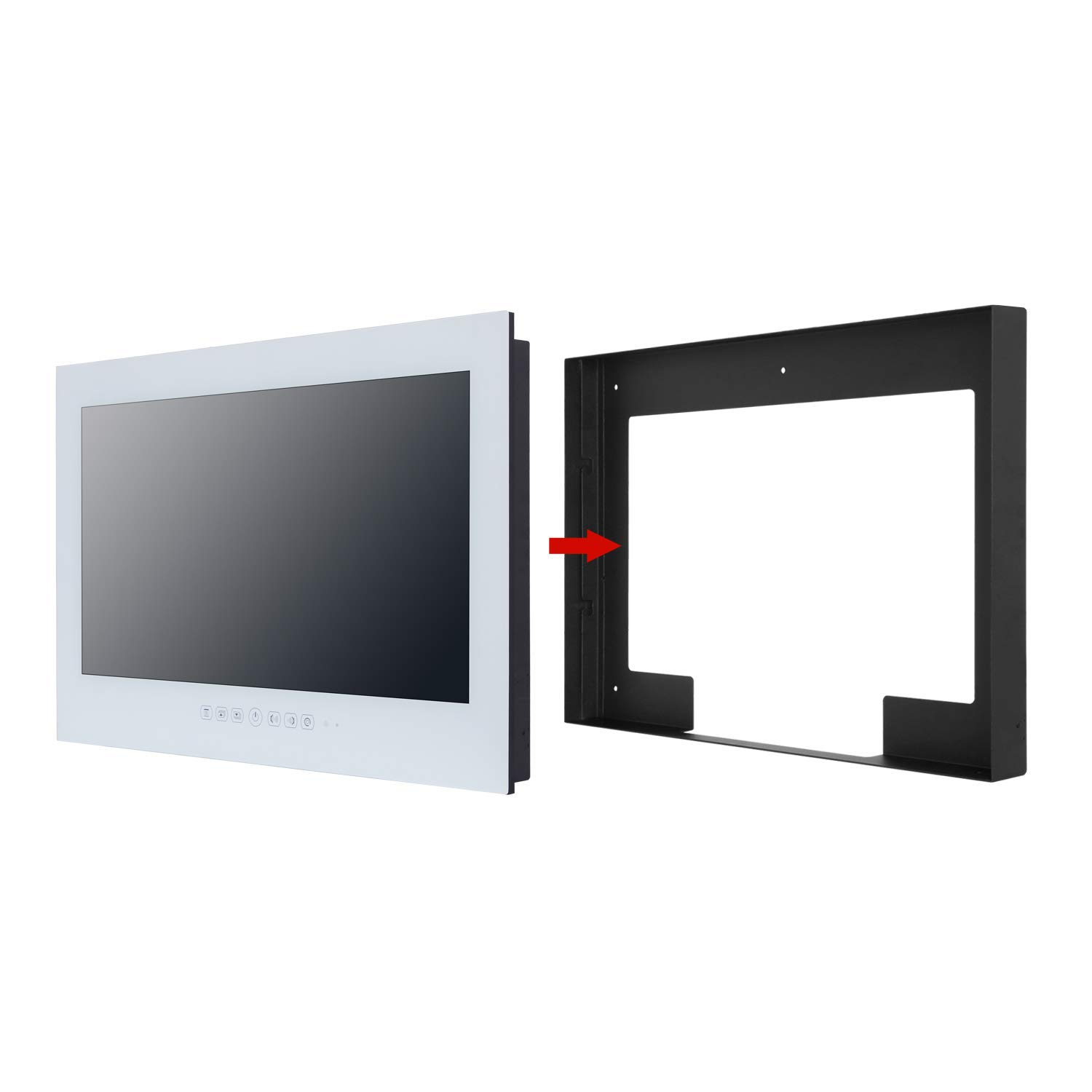 Haocrown Smart TV LED para baño IP66 Impermeable Sistema Android ...