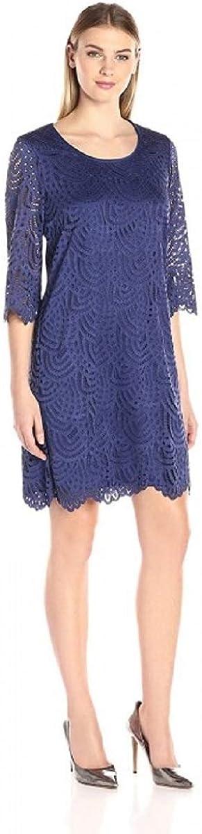 Ronni Nicole Women's 3/4 Sleeve Lace Shift Dress