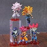 ADIS 5 unids / Set 7 cm Figura de Bola de Dragón héroe Dragonball Z Goku Fighterz 21 Figura Devil De...