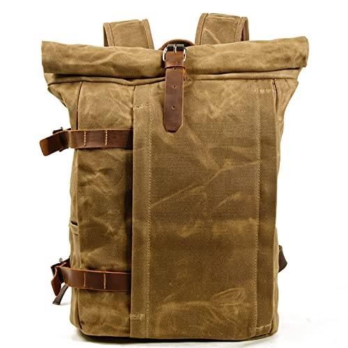 WYCYYWWKYK Mochila multifunción Bolsa de Laptop Bolsa de Viaje de montañismo Bolsa de Hombro Casual(khakha,15 Pulgadas)