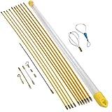OBLUESKY Fish Tape 10 m Kit de instalacin con 9 accesorios de gestin de cables 10 barras x 100 cm
