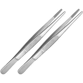 20 cm Industrie-Pinzette Elektriker Pinzette 2 x Technische Pinzette gerade Set May Edelstahl Modellbau Pinzette