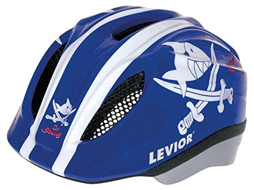 Helm LEVIOR Primo Lizenz Fahrrad Kinderhelm Größe M 52-58 CM Capt`n Sharky Blau