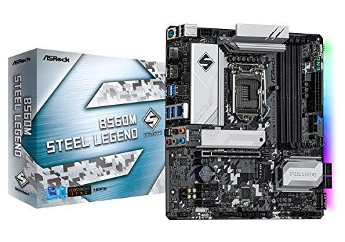 ASRock Intel 第10・11世代CPU(LGA1200)対応 B560 チップセット搭載 MicroATX マザーボード 【国内正規代理店品】 B560M Steel Legend