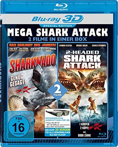 MEGA SHARK ATTACK: Sharknado & 2-Headed Shark Attack (Real 3D Blu-ray) [Special Edition]
