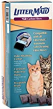 LitterMaid Odor Absorbing Litter Box Carbon Filters, 12 Pack, White