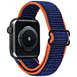 CAGOS Compatible with Apple Sport Bands 38mm 40mm, Stretchy Band for Apple Watch Series 6/5/4/3/SE Replacement Strap, Adjustable Comfy iWatch Wristbands for Women Men (Dark Blue, 38mm/40mm)