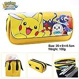 N / A Kawaii Pokemon Pikachu Estuche para niñas de Alta Capacidad Multifunción...