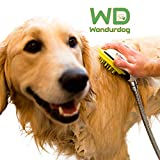 Wondurdog Quality at Home Dog Wash Kit for Shower | Water Sprayer Brush & Rubber Shield | Wash Your Pet and Don't Get Wet | Shield Water from Dogs Ears, Eyes and Yourself!
