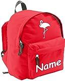 ShirtInStyle Mochila De Niños 'Flamingo', con Nombre refinada, ideal para Kita, deportes y ocio -...