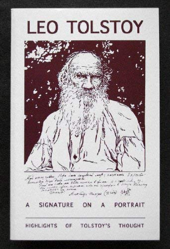 A signature on a portrait: Highlights of Tolstoy's thoughts